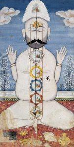 http://commons.wikimedia.org/wiki/File:Yogin_with_six_chakras,_India,_Punjab_Hills,_Kangra,_late_18th_century.jpg