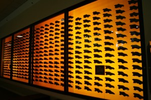 "{{Information| |Description=""Picture of a display of dire wolf skulls at the La Brea tar pits"" 