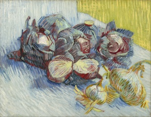 Cabbages always make me think of Peter Rabbit and Mr MacGregor's garden-- but here's Van Gogh instead.