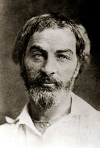Walt Whitman in 1854. Apparently he is only 35 in this portrait, but doesn't he look older?